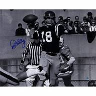 Archie Manning Signed Ole Miss B/W Throwing Pass 16x20 Photo