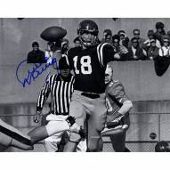 Archie Manning Signed Ole Miss B/W Throwing Pass 8x10 Photo