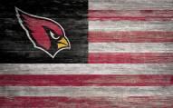"""Arizona Cardinals 11"""" x 19"""" Distressed Flag Sign"""