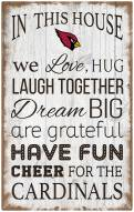 """Arizona Cardinals 11"""" x 19"""" In This House Sign"""