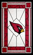 """Arizona Cardinals 11"""" x 19"""" Stained Glass Sign"""