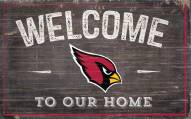 """Arizona Cardinals 11"""" x 19"""" Welcome to Our Home Sign"""