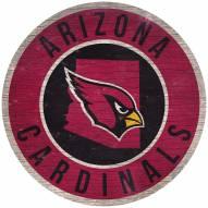 """Arizona Cardinals 12"""" Circle with State Sign"""
