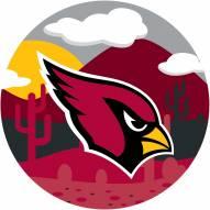"""Arizona Cardinals 12"""" Landscape Circle Sign"""