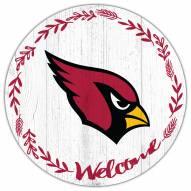 """Arizona Cardinals 12"""" Welcome Circle Sign"""