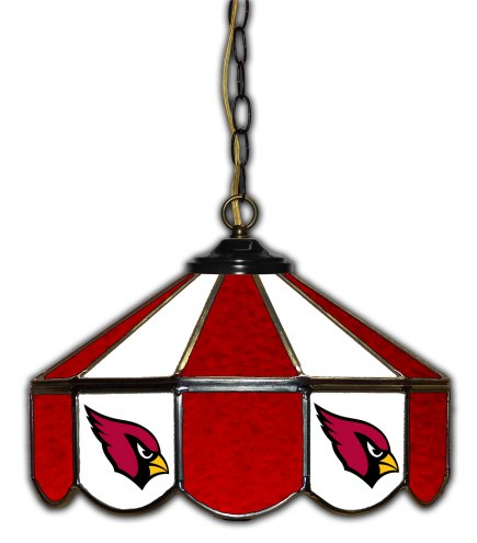 "Arizona Cardinals 14"" Glass Pub Lamp"