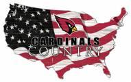 """Arizona Cardinals 15"""" USA Flag Cutout Sign"""