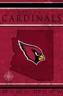 """Arizona Cardinals 17"""" x 26"""" Coordinates Sign"""