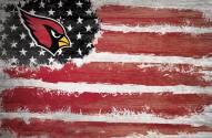"""Arizona Cardinals 17"""" x 26"""" Flag Sign"""
