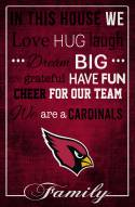 """Arizona Cardinals 17"""" x 26"""" In This House Sign"""