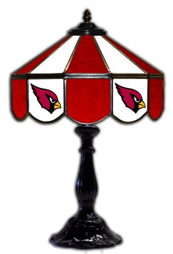 "Arizona Cardinals 21"" Glass Table Lamp"