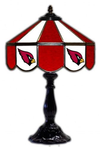 """Arizona Cardinals 21"""" Glass Table Lamp"""