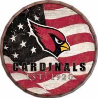 "Arizona Cardinals 24"" Flag Barrel Top"