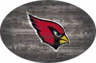 "Arizona Cardinals 46"" Distressed Wood Oval Sign"