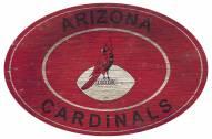 """Arizona Cardinals 46"""" Heritage Logo Oval Sign"""