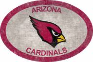 "Arizona Cardinals 46"" Team Color Oval Sign"