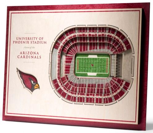 Arizona Cardinals 5-Layer StadiumViews 3D Wall Art