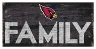 """Arizona Cardinals 6"""" x 12"""" Family Sign"""