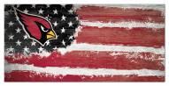 """Arizona Cardinals 6"""" x 12"""" Flag Sign"""