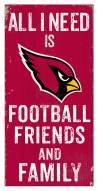 "Arizona Cardinals 6"" x 12"" Friends & Family Sign"