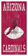 """Arizona Cardinals 6"""" x 12"""" Heritage Logo Sign"""