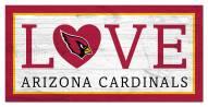 """Arizona Cardinals 6"""" x 12"""" Love Sign"""
