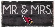 """Arizona Cardinals 6"""" x 12"""" Mr. & Mrs. Sign"""