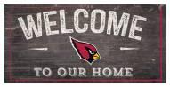 """Arizona Cardinals 6"""" x 12"""" Welcome Sign"""