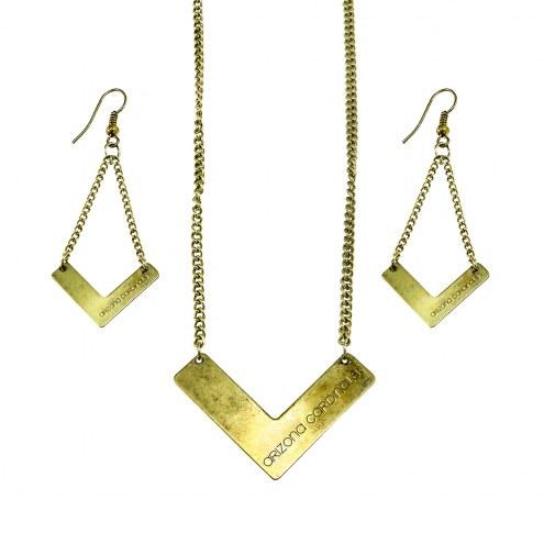 Arizona Cardinals Chevron Jewelry Set