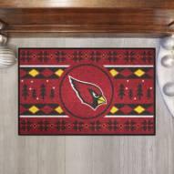 Arizona Cardinals Christmas Sweater Starter Rug
