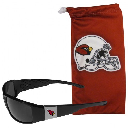 Arizona Cardinals Chrome Wrap Sunglasses & Bag
