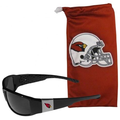 Arizona Cardinals Chrome Wrap Sunglasses & Bag