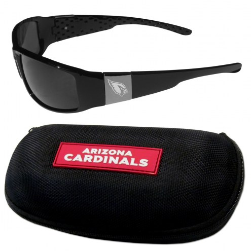 Arizona Cardinals Chrome Wrap Sunglasses & Zippered Carrying Case