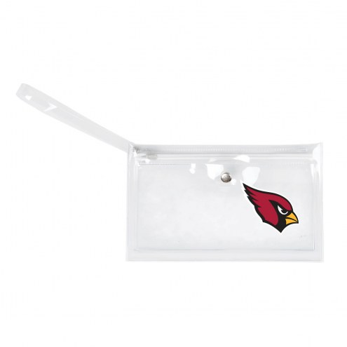 Arizona Cardinals Clear Ticket Wristlet