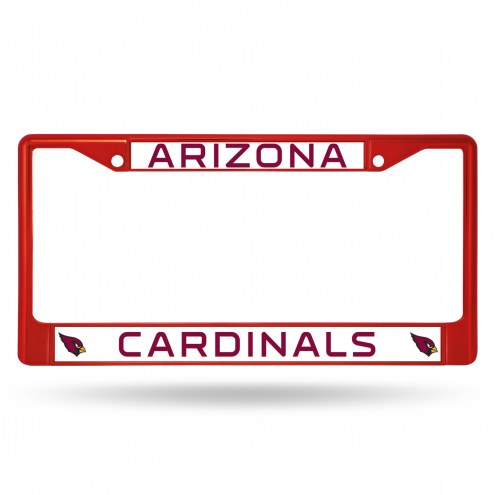 Arizona Cardinals Colored Chrome License Plate Frame