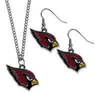Arizona Cardinals Dangle Earrings & Chain Necklace Set