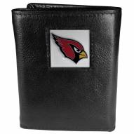 Arizona Cardinals Deluxe Leather Tri-fold Wallet in Gift Box