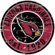 Arizona Cardinals Distressed Round Sign
