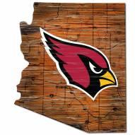 Arizona Cardinals Distressed State with Logo Sign