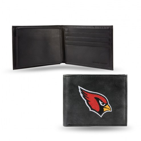 Arizona Cardinals Embroidered Leather Billfold Wallet