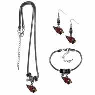 Arizona Cardinals Euro Bead Jewelry 3 Piece Set