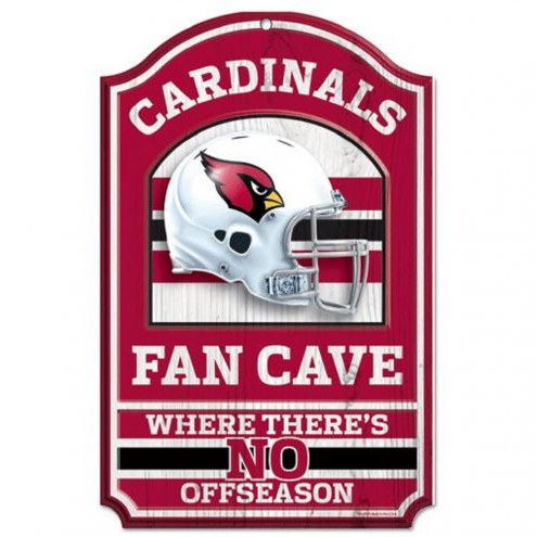 Arizona Cardinals Fan Cave Wood Sign