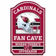 Arizona Cardinals Fan Cave Wood Sign