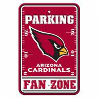 Arizona Cardinals Fan Zone Parking Sign