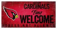 Arizona Cardinals Fans Welcome Sign