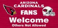 Arizona Cardinals Fans Welcome Wood Sign