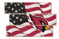 Arizona Cardinals Flag 3 Plank Sign