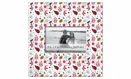 """Arizona Cardinals Floral Pattern 10"""" x 10"""" Picture Frame"""