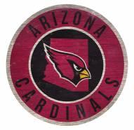 Arizona Cardinals Round State Wood Sign
