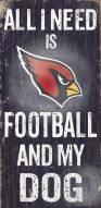 Arizona Cardinals Football & Dog Wood Sign